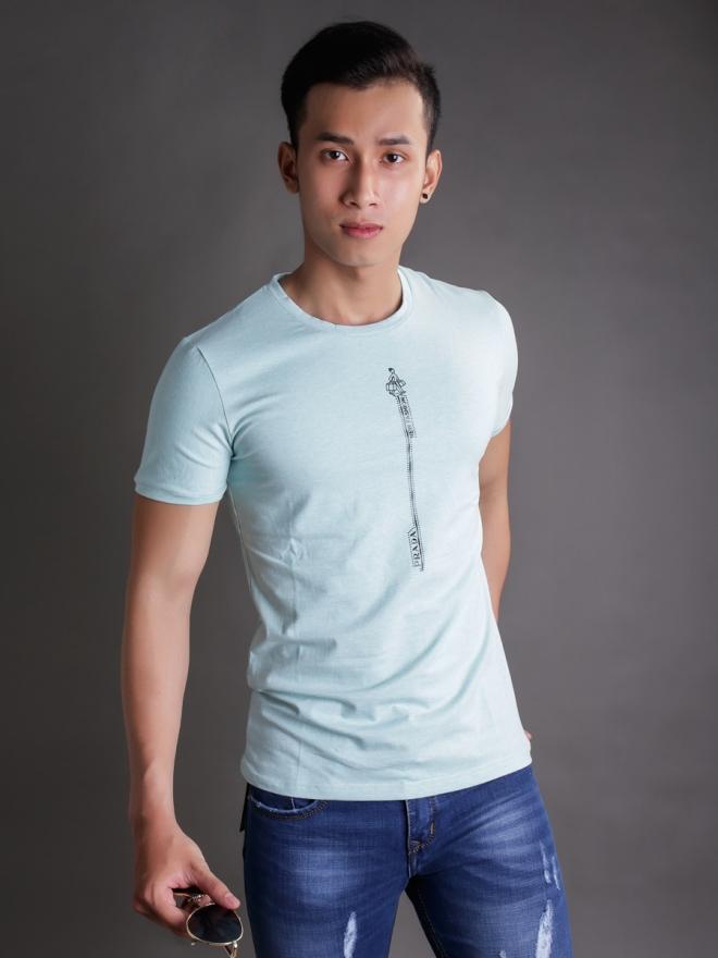 Ao Thun Co Tron Xanh Ngoc AT596
