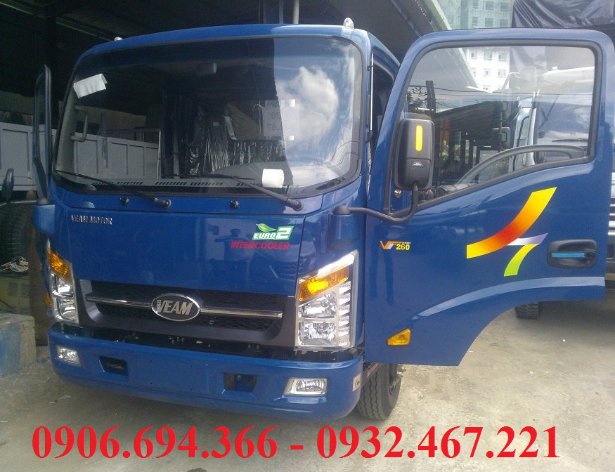Ban xe veam VT260 thung 6 met 2 vo duoc thanh pho gia re
