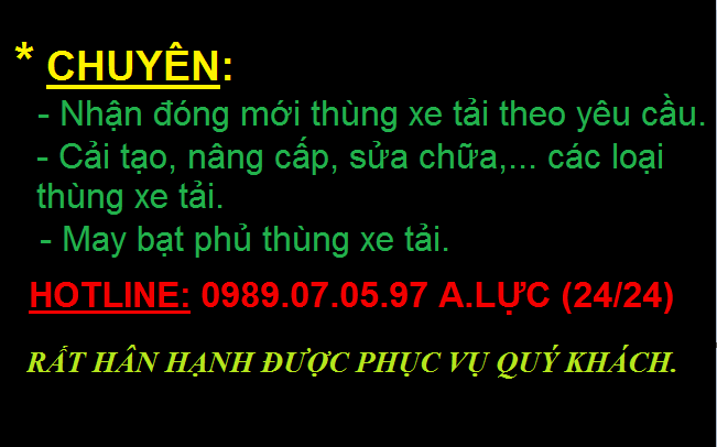 Tim xuong dong thung chat luong Thung xe tai dep