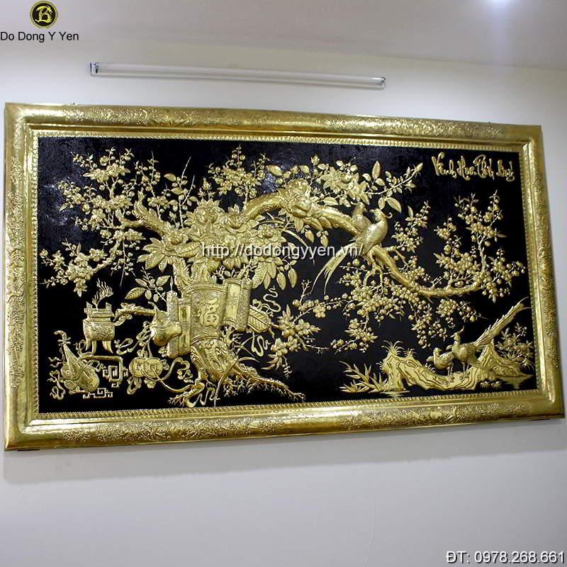 Tranh Dong Vinh Hoa Phu Quy 2m3