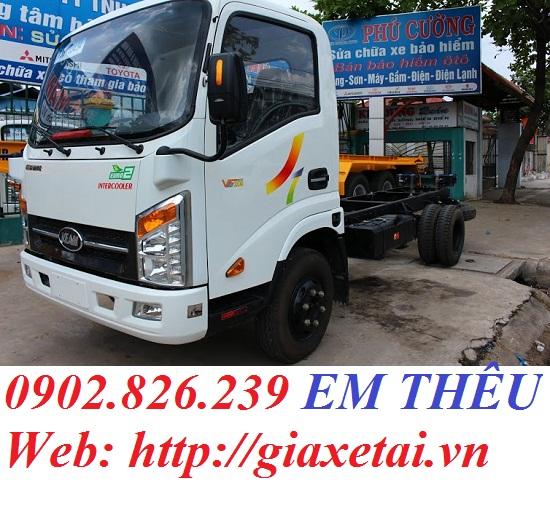 Xe tai Veam VT200 TK 2t thung dai 4m4 chay thanh pho