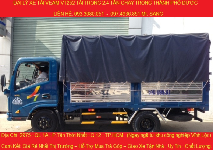 Cong ty ban xe veam 252 tai trong 24 tan gia re nhat xe tai veam vt252