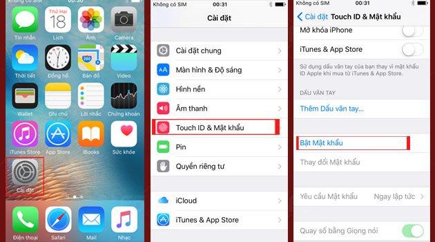 Nang cao bao mat cho cho thiet bi iOS bang mat khau gom ca chu va so