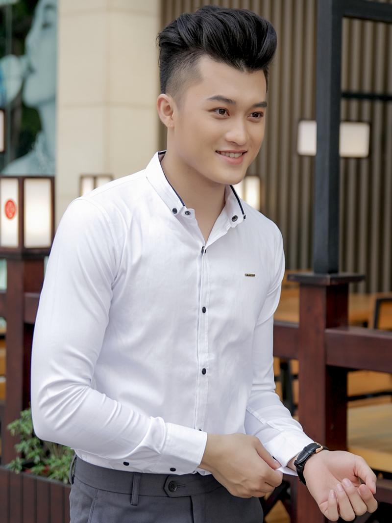 Ao So Mi Han Quoc Trang Tron ASM792