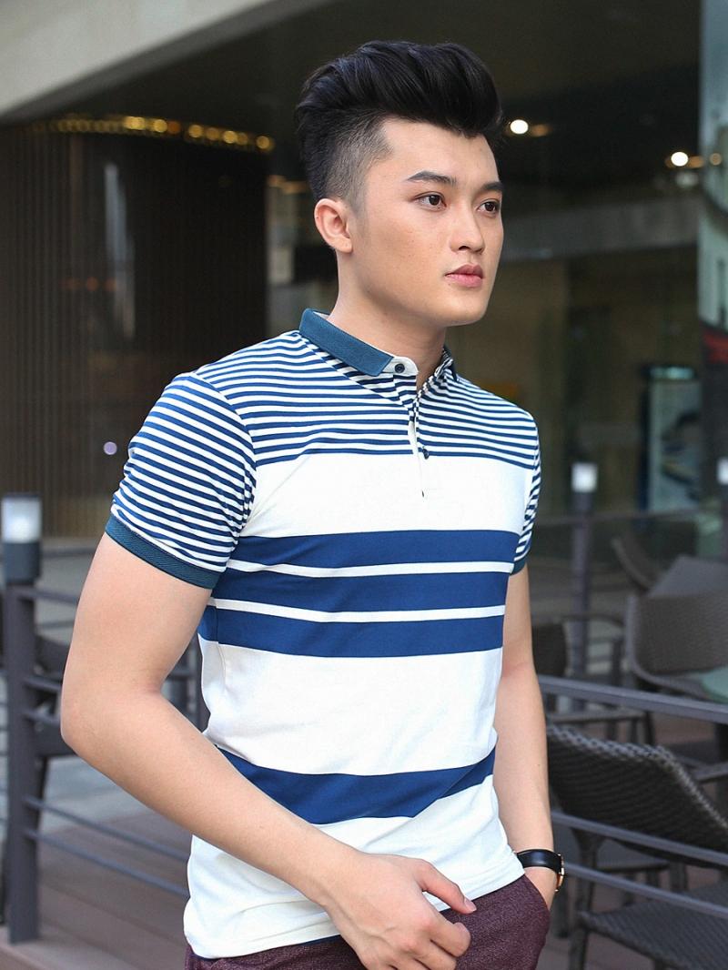 Ao Thun Co Co Soc Xanh Den AT607