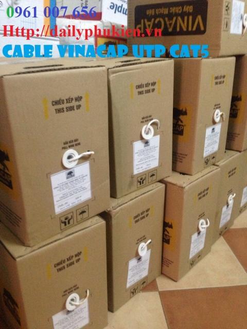 Chuyen Cap mang vinacap Cat5Cat6 UTPDay thoai Vinacap Lien he 0961007656