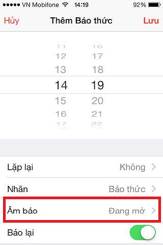 Cach dat lich bao thuc Iphone 6s mot cach tot nhat