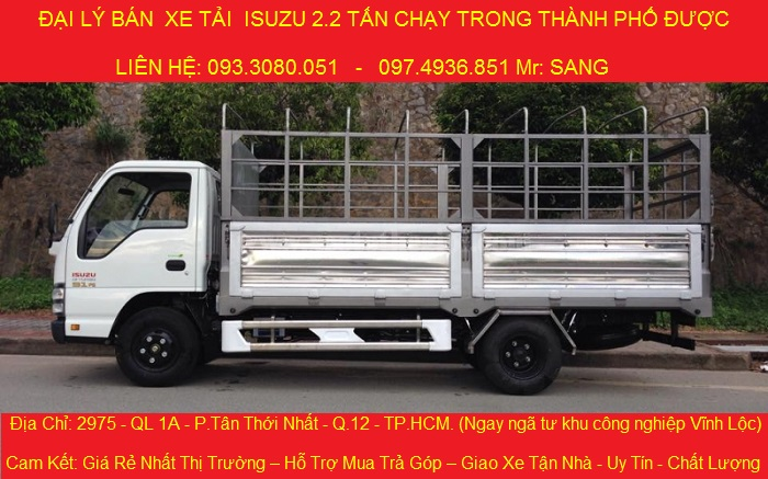 Xe tai ISUZU 22 Tan gia re giao xe nhanh khuyen mai 12 trieu