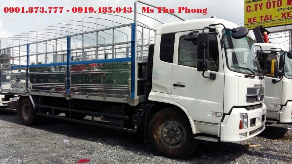 Can mua xe tai thung Dongfeng Hoang Huy 96 tan9T6 B170 may Cummin tra gop lai suat uu dai