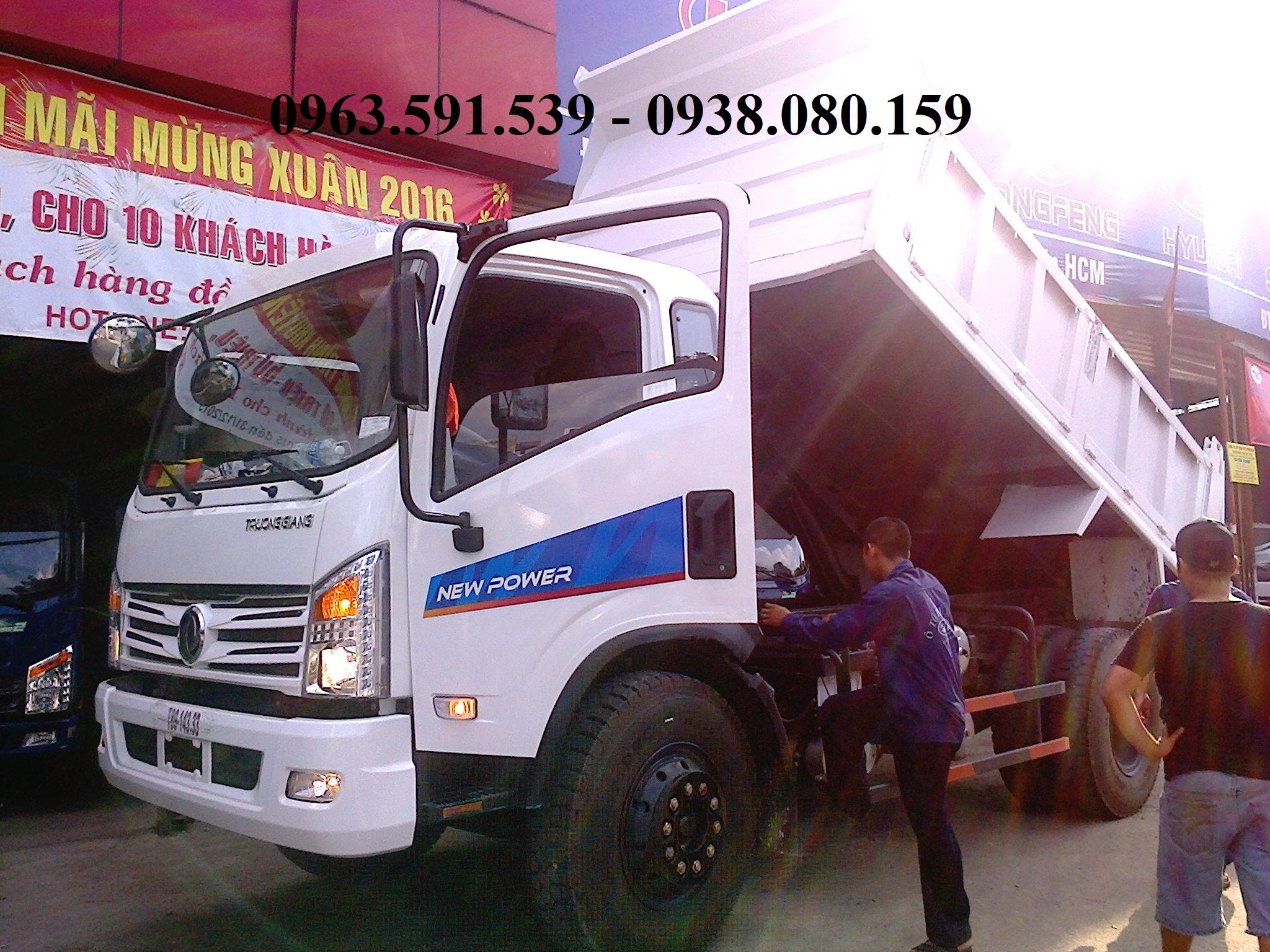 Chuyen buon ban xe ben Dongfeng Truong Giang 9t292 tan gia tot tai Sai Gon