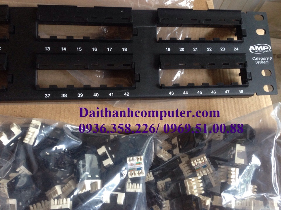 Day nhay mang Cat6 AMPPatch Panel AMP 24 portPatch Panel 48 Port USA