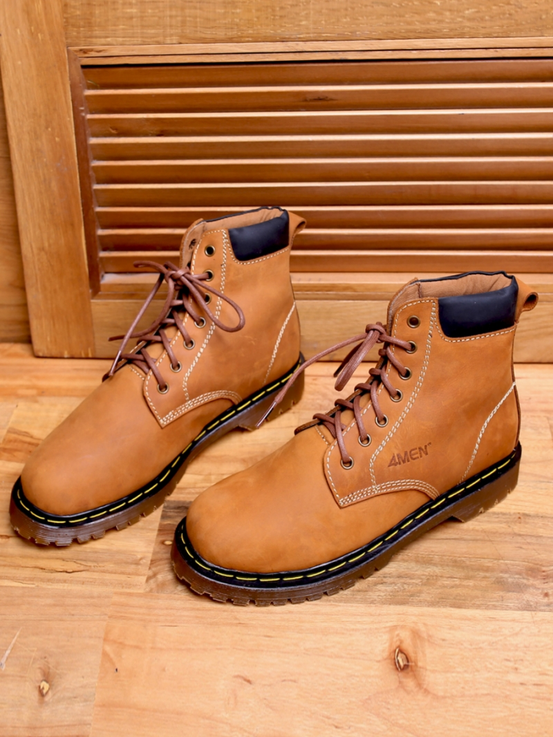 Giay Boot Co Cao Mau Bo G101