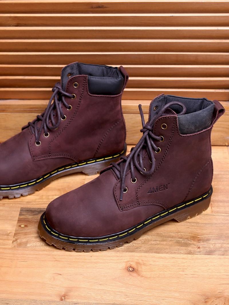 Giay Boot Co Cao Nau G101
