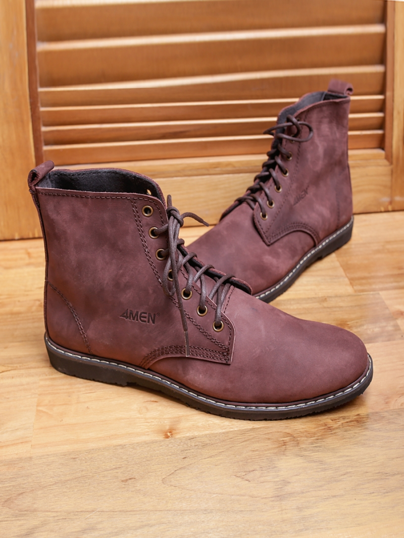 Giay Boot Nau G90