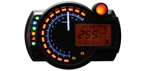 Man Hinh Motorcycle Odometer Speedometer LCD Digital Kit