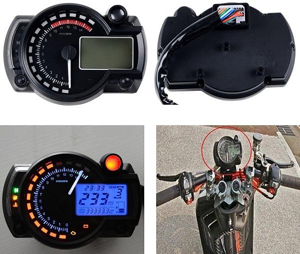 Man Hinh Motorcycle Odometer Speedometer LCD Digital Kit