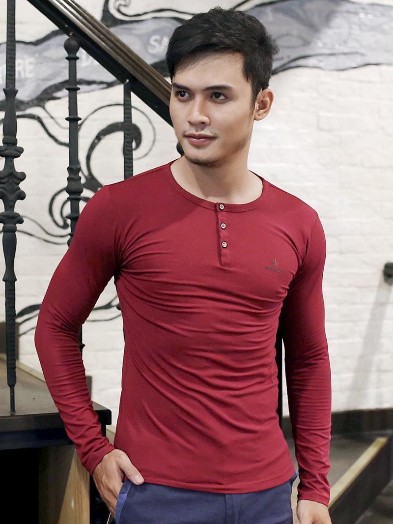 Ao Thun Co Co Nut Tay Dai Do Do AT611