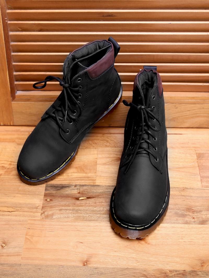 Giay Boot Co Cao Den G101