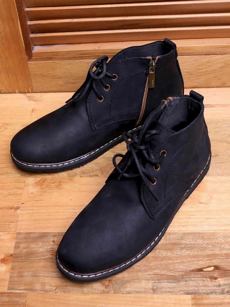 Giay Boot Co Lung Den G100