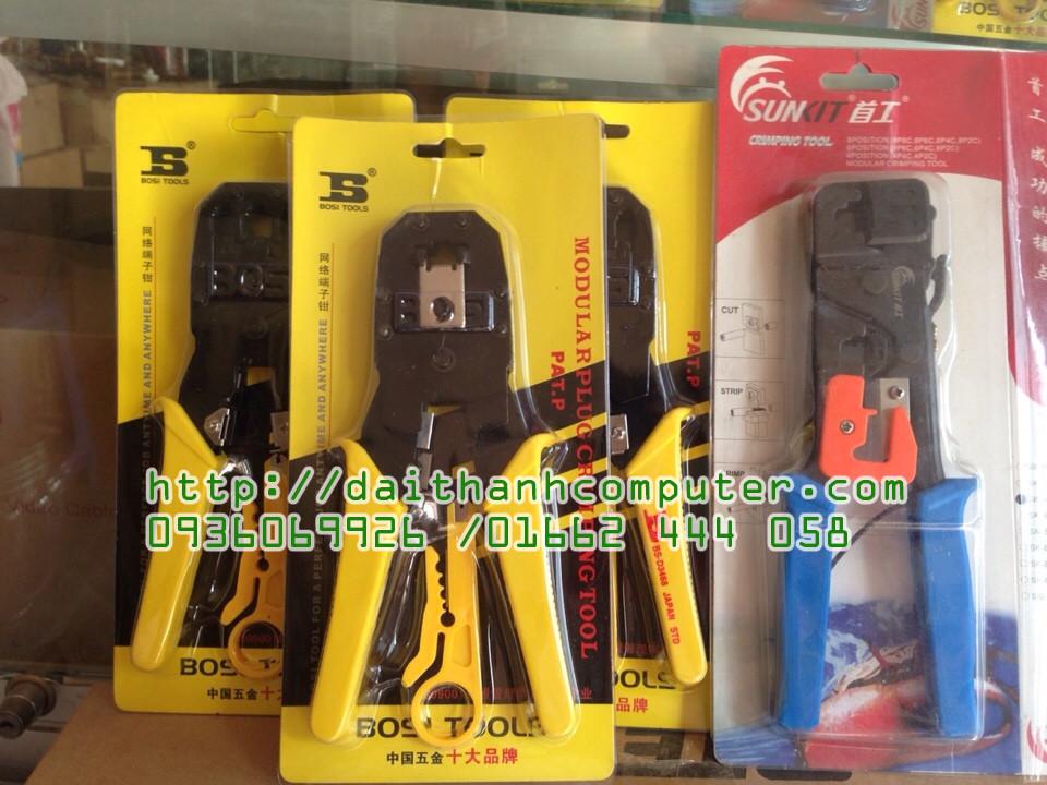 Kim mang Bosi Tools RJ11 RJ12 RJ45Kim bam mang BOSI Mau Vang