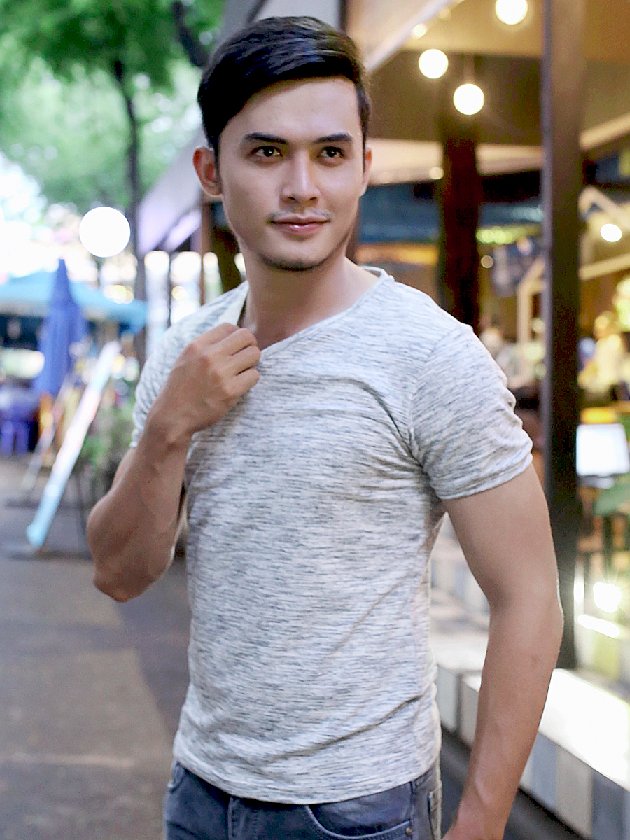 Ao Thun Co Tim Xam Chuot AT616