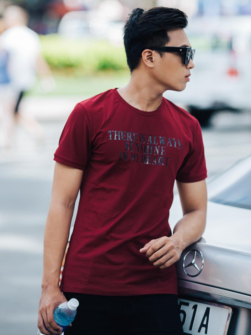 Ao Thun Co Tron Do Do AT631