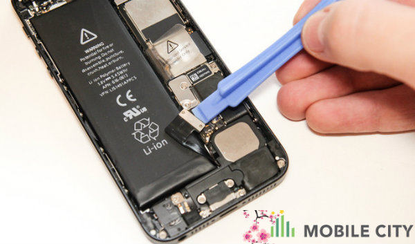 Dich vu repair man hien thi iPhone 5 bi mo pro