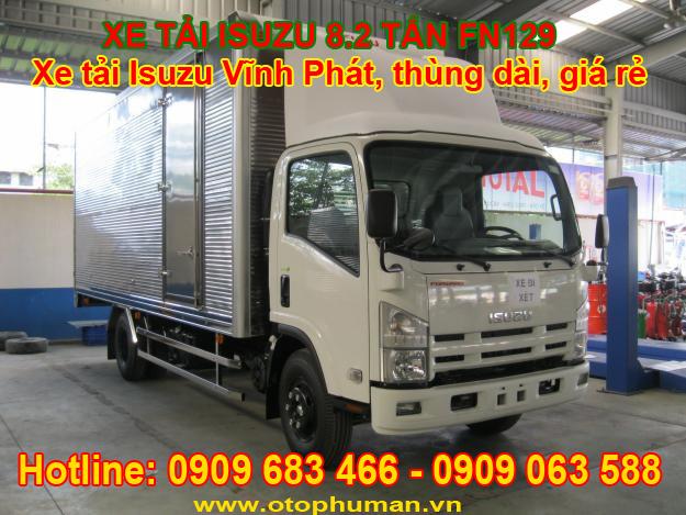 Cong ty ban xe tai ISUZU 82 tan 8 tan 2 8T2 tra gop khong the chap tai san
