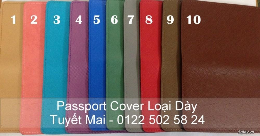 Passport Cover Vo boc ho chieu khac ten theo yeu cau