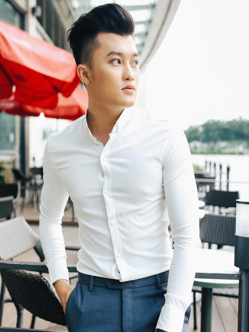 Ao So Mi Han Quoc Trang Tron ASM843