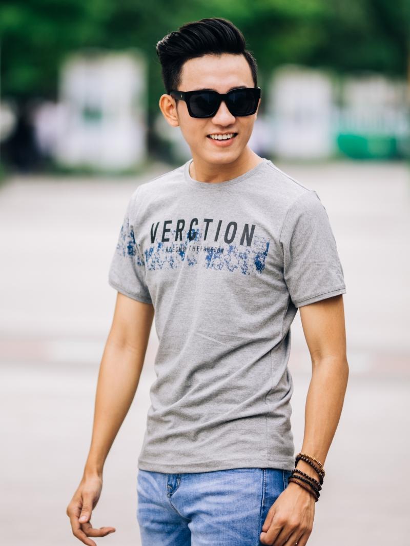Ao Thun Co Tron Xam AT649