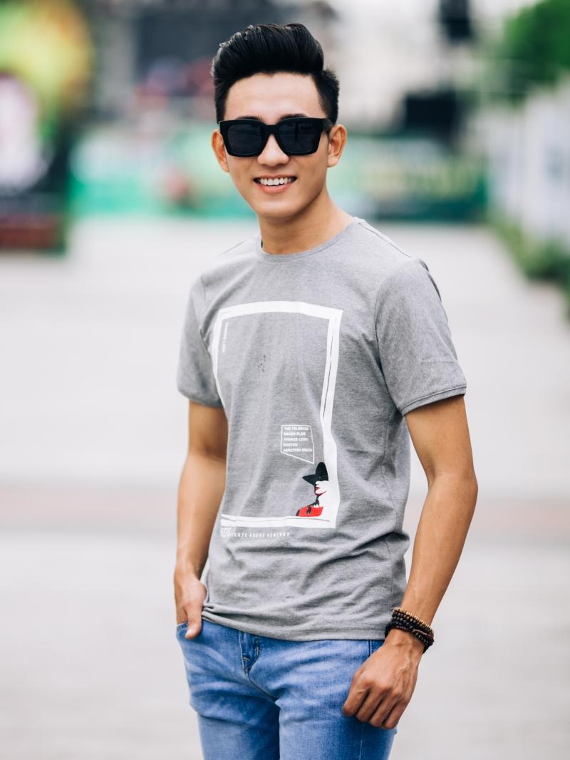 Ao Thun Co Tron Xam AT650