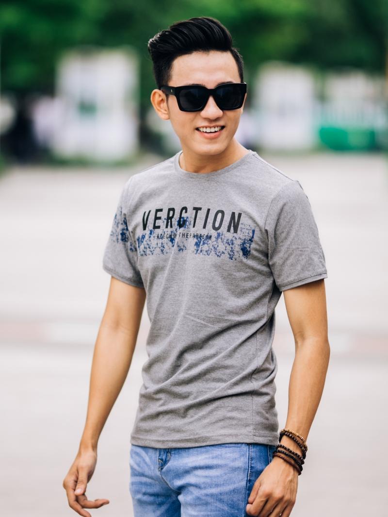 Ao Thun Co Tron Xam Chuot AT649