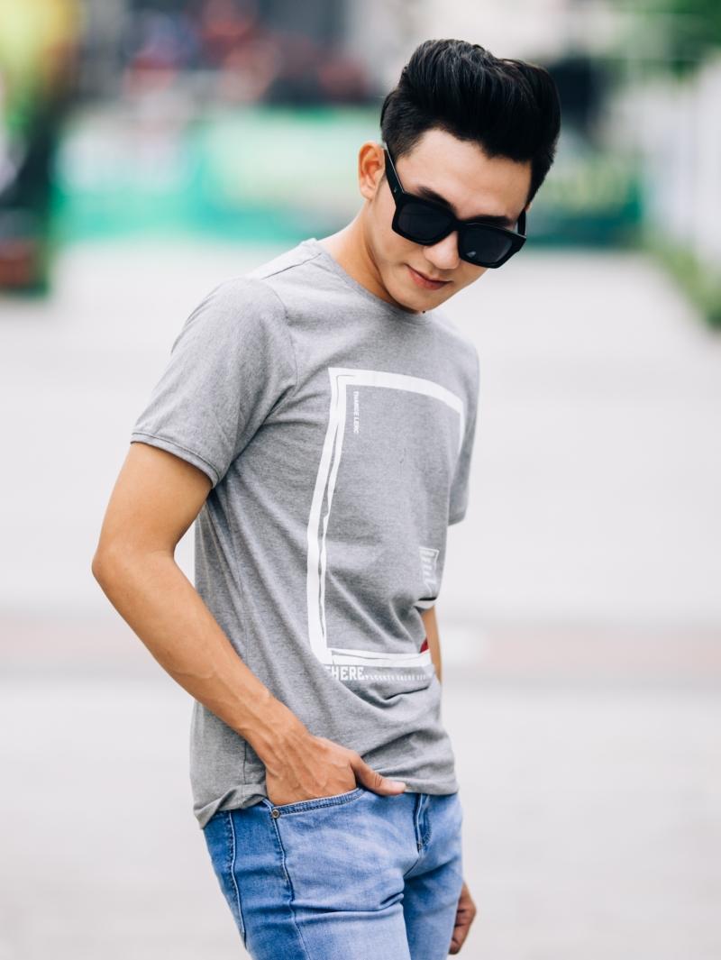 Ao Thun Co Tron Xam Chuot AT650