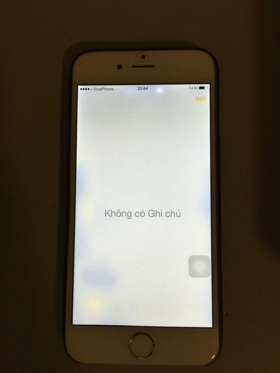 Cach khac phuc loi man hinh iPhone 6 co cham trang