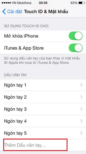 Cam bien van tay iphone 6 khong nhay