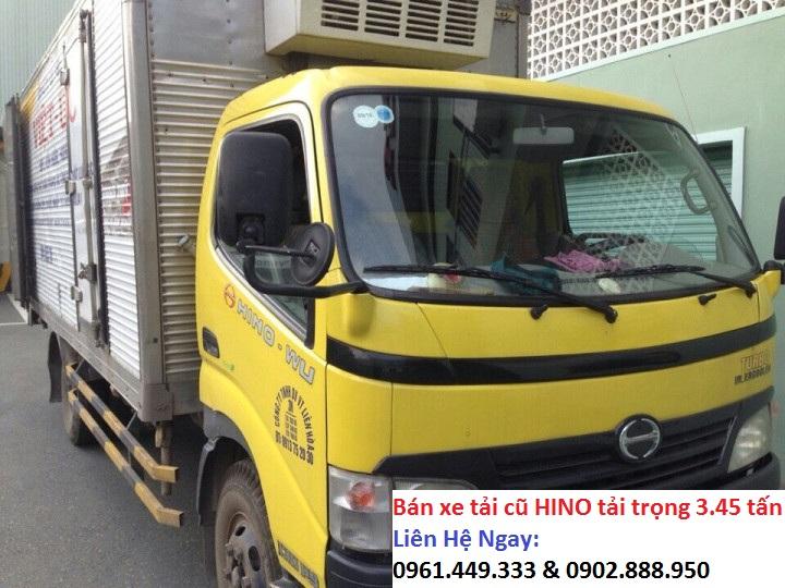 Can ban gap xe tai cu hino thung dong lanh tai 3t45 doi 2008
