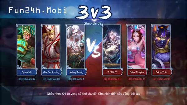 Tong ho cac che do choi hap dan trong game moba 3Q Mobile