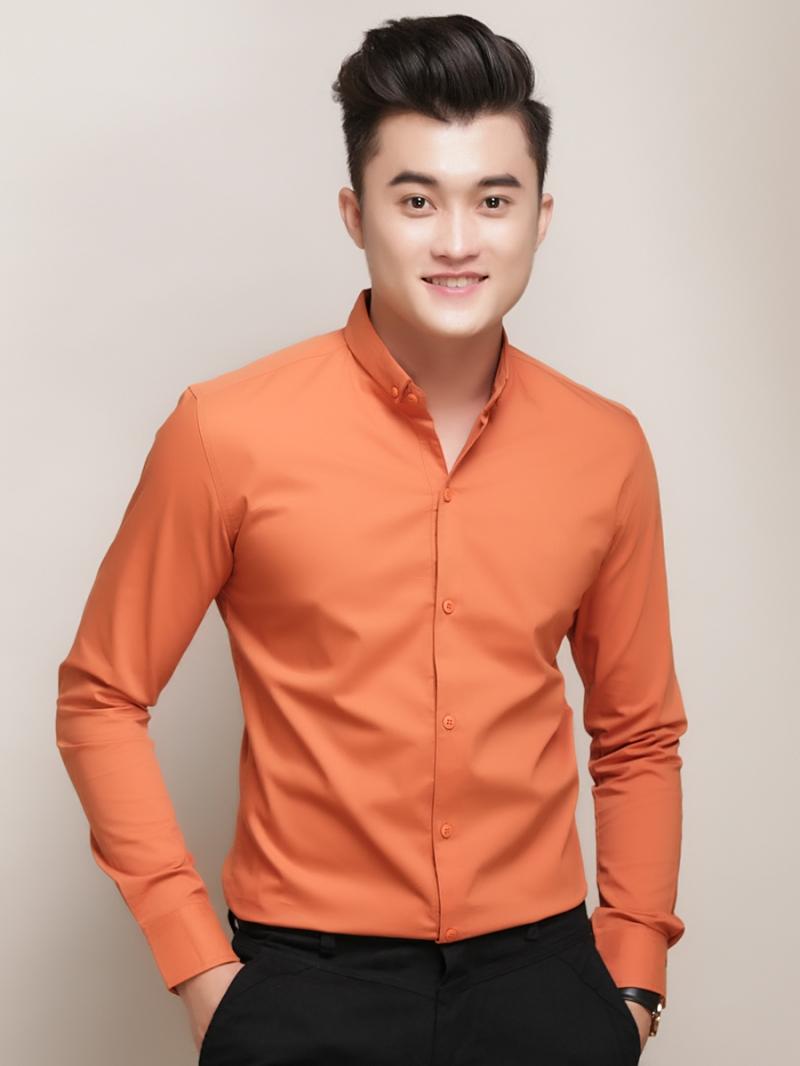 Ao So Mi Han Quoc Cam Tron ASM788