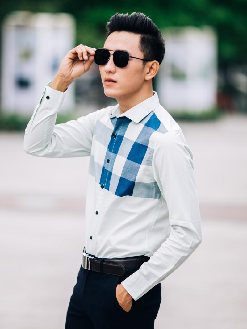 Ao So Mi Xanh Ngoc ASM844