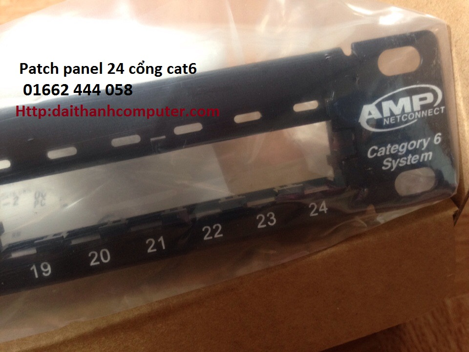 Thanh dau noi 24 cong chuan Cat6Thanh dau noi 24 cong AMP Cat5e