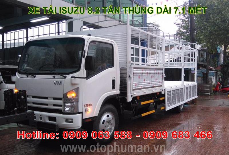 xe tai isuzu 8t2 82 tan FN129 thung batthung kin chi can 150tr nhan xe isuzu vinh phat