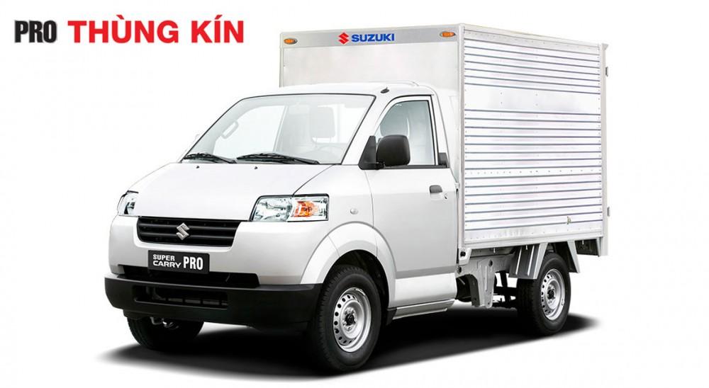 Xe tai Suzuki 750kg may lanh Cabin nhap khau tra gop 25 xe