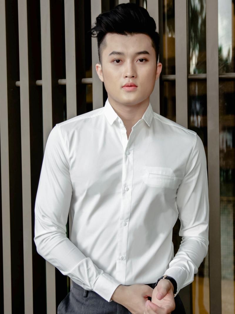 Ao So Mi Han Quoc Trang Kem ASM801