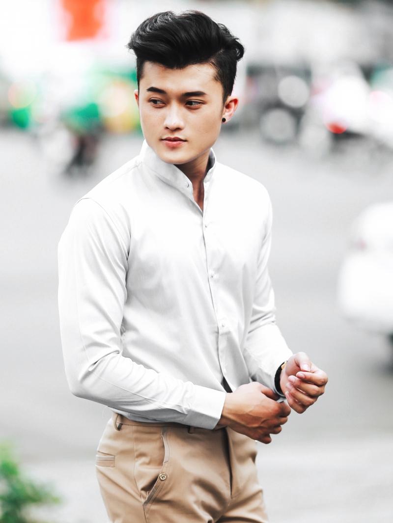 Ao So Mi Trang ASM860