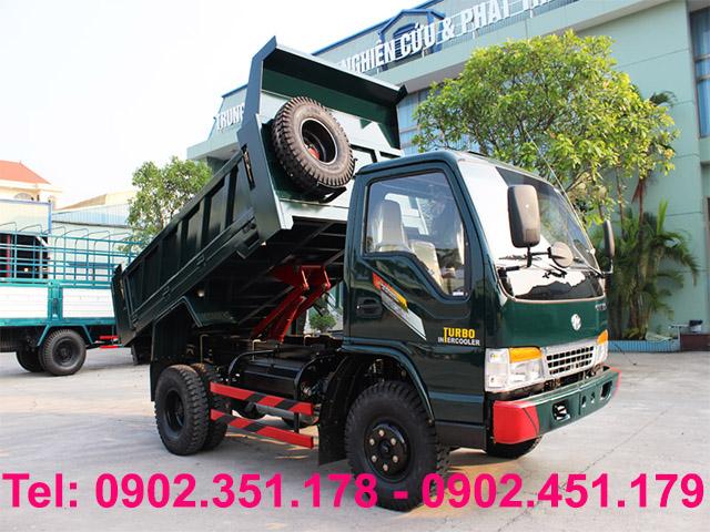 gia mua xe tai ben Chien Thang 39 tan 2 cau 46 tan 62 tan tra truoc 30 gia xe nhan xe ngay
