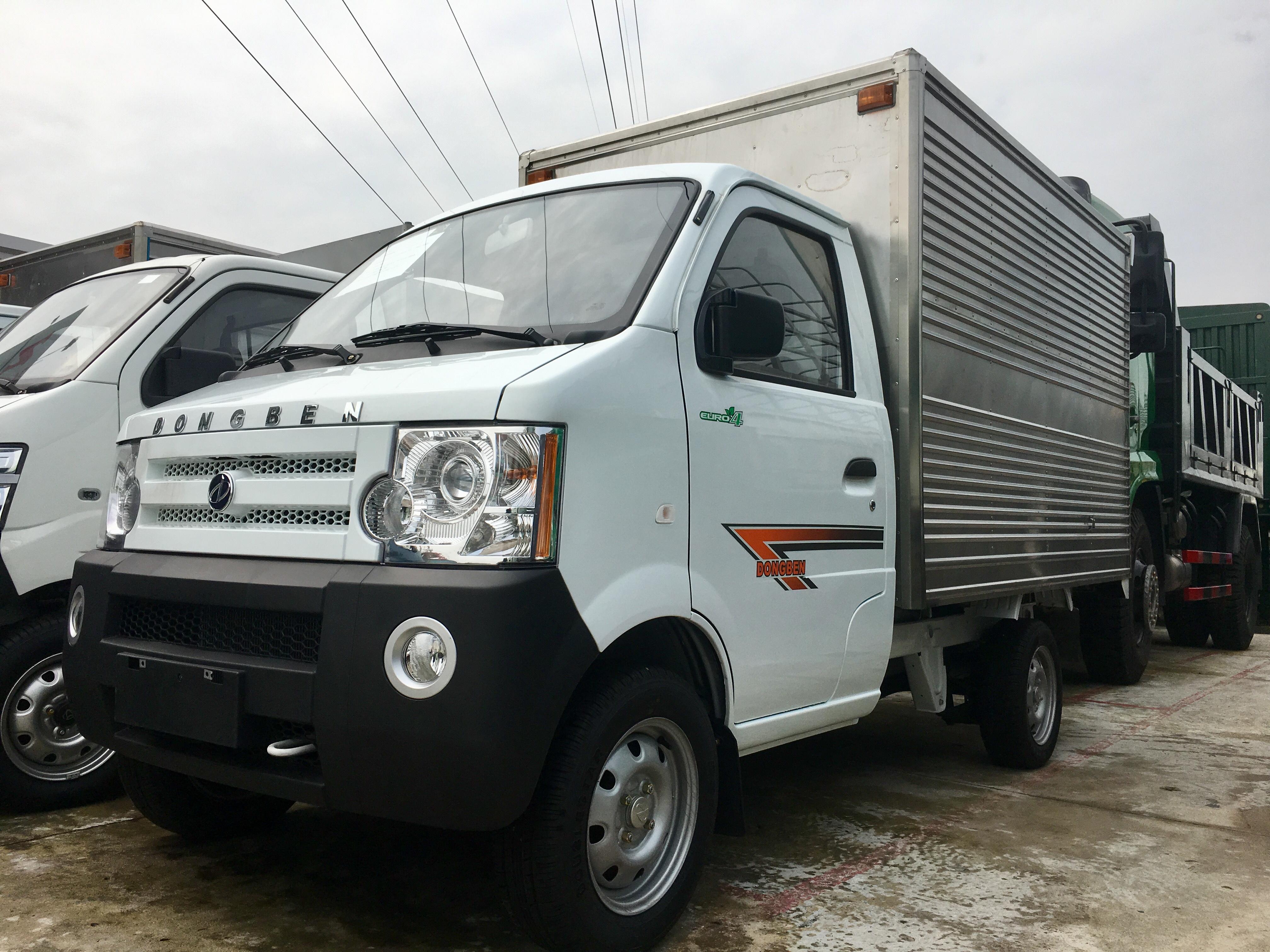 Ban xe tai Dongben 770kg Thung kin