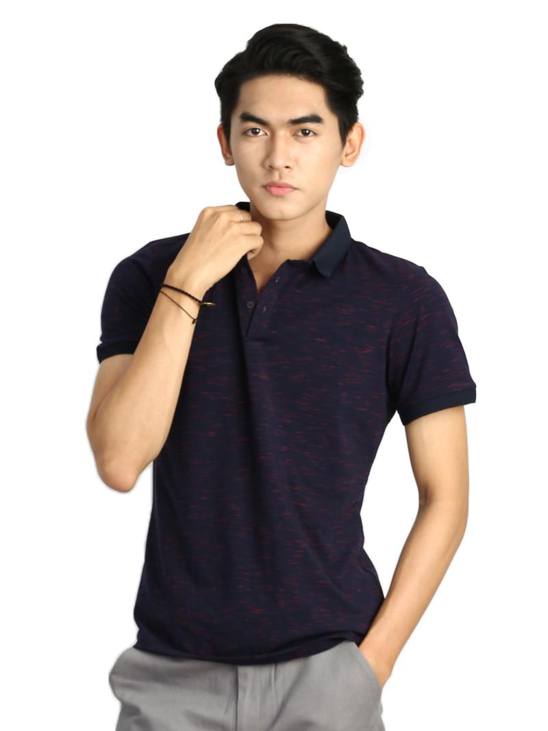 Ao Thun Co Co Xanh Den AT773