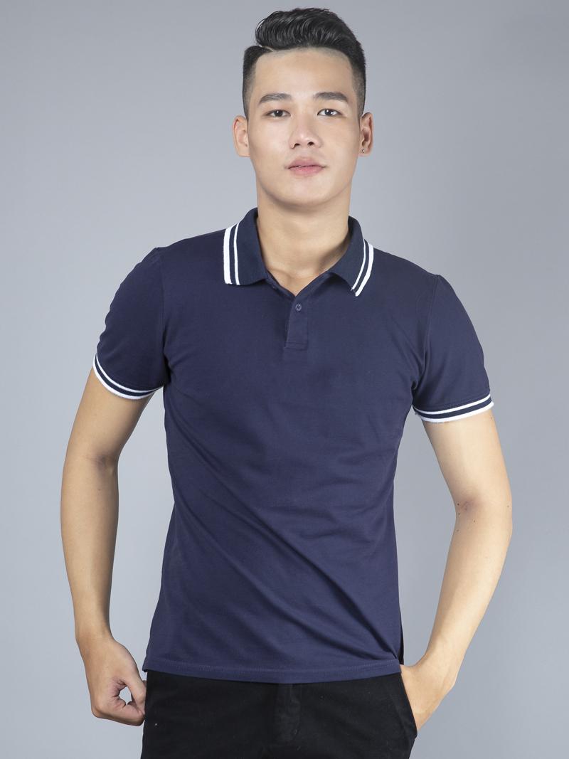 Ao Thun Co Co Xanh Den AT780